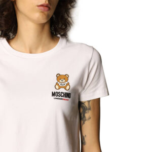 MOSCHINO T SHIRT DONNA ZUA1912 9021 0001 WHITE