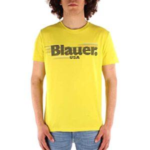 BLAUER T SHIRT MANICA CORTA 21SBLUH02334 4547 218 LIME