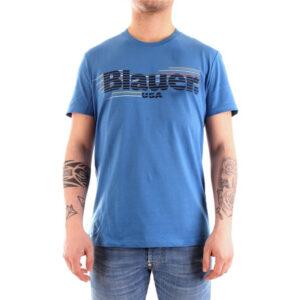 BLAUER T SHIRT MANICA CORTA 21SBLUH02334 4547 801 LIGHT BLUE
