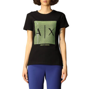 ARMANI EXCHANGE T SHIRT DONNA 3KYTKE YJW3Z 1200 BLACK