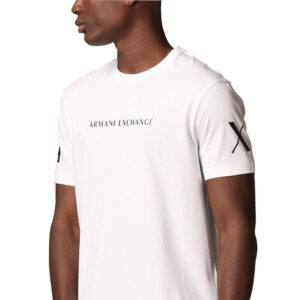 ARMANI EXCHANGE T SHIRT UOMO 3KZTGQ ZJH4Z 1100 WHITE