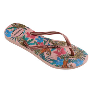 HAVAIANAS 41221115977 SLIM TROPICAL BALLET ROSE PINK RETRO METALLIC
