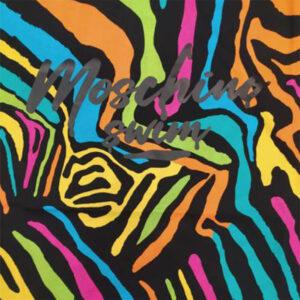 MOSCHINO T SHIRT UOMO A1909 2321 1555 BLACK MULTICOLOR