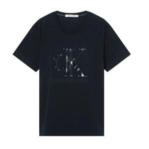 CALVIN KLEIN UOMO T SHIRT MONOGRAM WATERBAS J30J317508 BEH BLACK