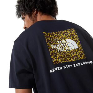 THE NORTH FACE T SHIRT RED BOX TEE NF0A2TX20GZ1 NAVY CITRONELLE FLOWER