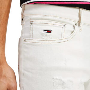 TOMMY DENIM JEANS SCANTON SLIM DM0DM09889 1CD BIANCO
