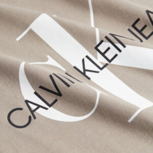 CALVIN KLEIN T SHIRT UOMO J30J317065 PBU ELEPHANT SKIN WHITE