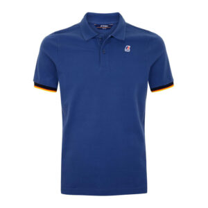 K-WAY UOMO POLO VINCENT CONTRAST STRETCH K008J50 379 BLUE RIVIERA