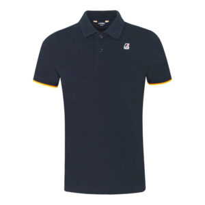K-WAY UOMO POLO VINCENT CONTRAST STRETCH K008J50 K89 BLUE DEPHT