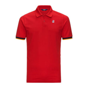 K-WAY UOMO POLO VINCENT CONTRAST STRETCH K008J50 Q03 RED