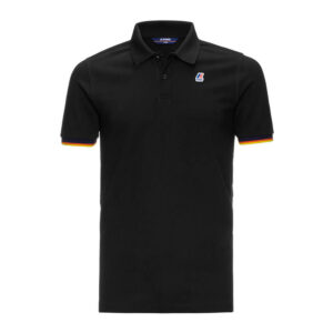 K-WAY UOMO POLO VINCENT CONTRAST STRETCH K008J50 USY BLACK
