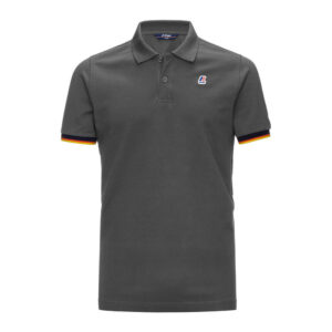 K-WAY UOMO POLO VINCENT CONTRAST STRETCH K008J50 X5R GREY SMOKED