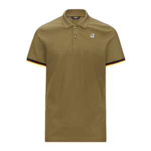 K-WAY UOMO POLO VINCENT CONTRAST STRETCH K008J50 X7Q GREEN OLIVE
