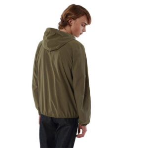 K-WAY UOMO JACQUES STRETCH DOT K00BBV0 X7Q GREEN OLIVE