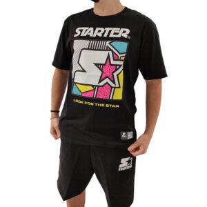 STARTER T SHIRT UOMO 73216 NERO