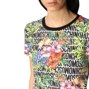 MOSCHINO T SHIRT DONNA ZUA1921 9022 1001 LETTERING FLOWER