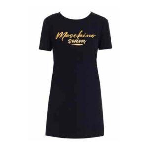 MOSCHINO MAXI T SHIRT DONNA A1909 2125 555 BLACK