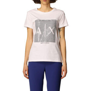 ARMANI EXCHANGE T SHIRT DONNA 3KYTKE YJW3Z 9152 WHITE BLACK