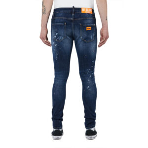 MYBRAND JEANS 1X21003B0001 NEON ORANGE DARK DENIM