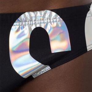 MOSCHINO SLIP MARE UOMO A6123 5211 555 BLACK SILVER