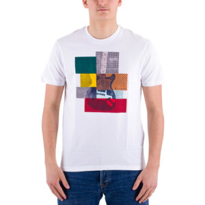 BEN SHERMAN 64041 010 T SHIRT CROPPED GUITAR TEE WHITE