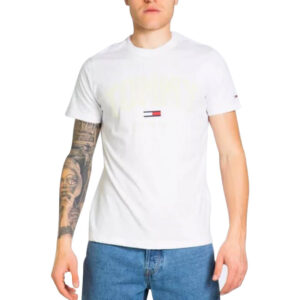 TOMMY JEANS T SHIRT SHADOWDM0DM10226 YBR WHITE