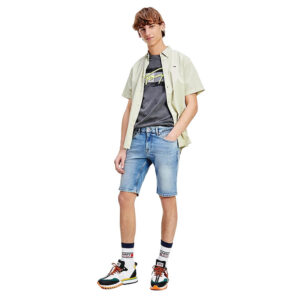 TOMMY JEANS SHORTS SCANTON SLIM DM0DM105591AB LIGHT BLUE
