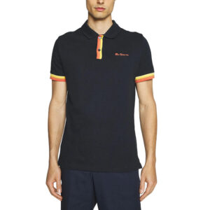 BEN SHERMAN 63363 036 PLACKET INTEREST POLO MIDNIGHT