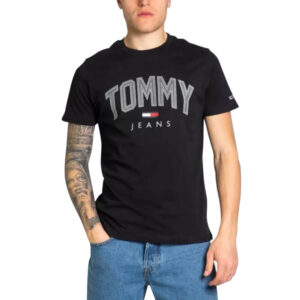 TOMMY JEANS T SHIRT SHADOWDM0DM10226 BDS BLACK