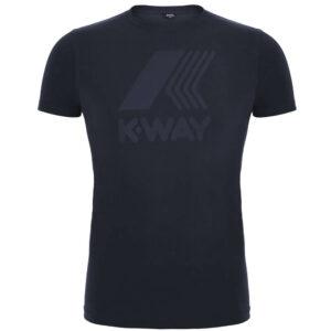 K-WAY UOMO T SHIRT ELLIOT LOGO K009PR0 K89 BLUE DEPHT