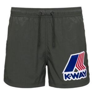K-WAY UOMO COSTUME BOXER HAZEL MACRO LOGO K61134W 890 BLACK TORBA