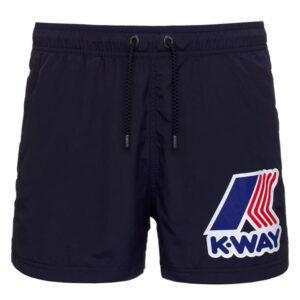K-WAY UOMO COSTUME BOXER HAZEL MACRO LOGO K61134W K89 BLUE DEPHT