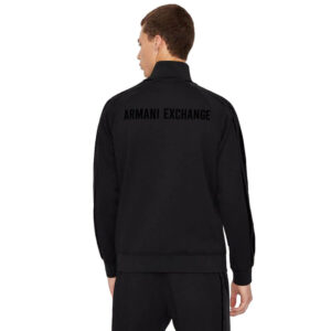 ARMANI EXCHANGE FELPA ZIP UOMO 6KZMFR ZJ6LZ 1200 BLACK