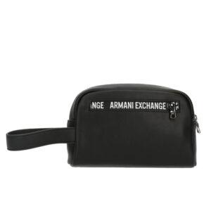 ARMANI EXCHANGE PLASTIC BEAUTY CASE UOMO 958410 1A803 06021 BLACK
