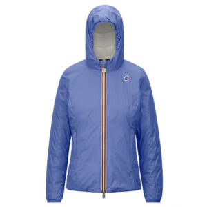 K-WAY LILY THERMO PLUS.2 DOUBLE K111BHW ABZ GIACCA CORTA DONNA BLUE WHITE